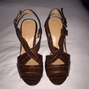 Nine West Cognac Sandals - 8 1/2